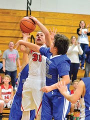 Fairview Middle eighth grader Brody Cox battles East