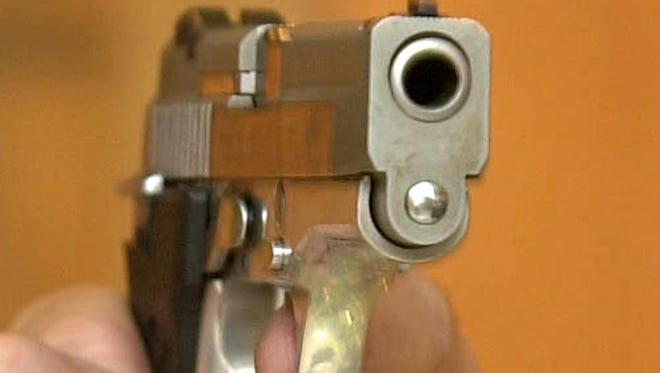 This file photo shows a handgun.