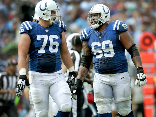 Will these be the two starters on the right side of the Colts' offensive line come opening day? Training camp will tell us.