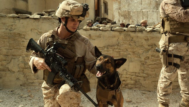 "Robbie Amell and Carlos, a Belgian Malinois, star in ""Max,"" opening June 26 in theaters nationwide."