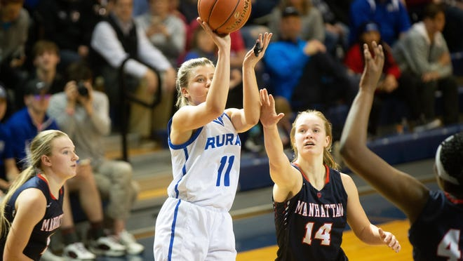 Washburn Rural's Emma Krueger, a three-year starter as a junior, averaged 10.7 points and 7.2 rebounds last season for the 16-6 Junior Blues.