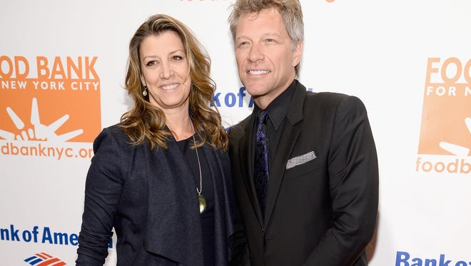 Jon Bon Jovi and wife Dorothea Bongiovi attend the Food Bank for New York City's Can Do Awards dinner gala on April 9, 2014 in New York City.