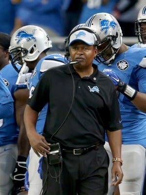 Lions coach Jim Caldwell on the sideline against the Saints on Oct. 20, 2014.