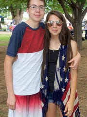 Dominguez siblings, Marc and Kari, come dressed in their patriotic best for the Fourth.