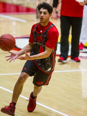 The Southern Utah men's basketball team holds their first practice of the 2017-18 season on Friday, September 29, 2017.