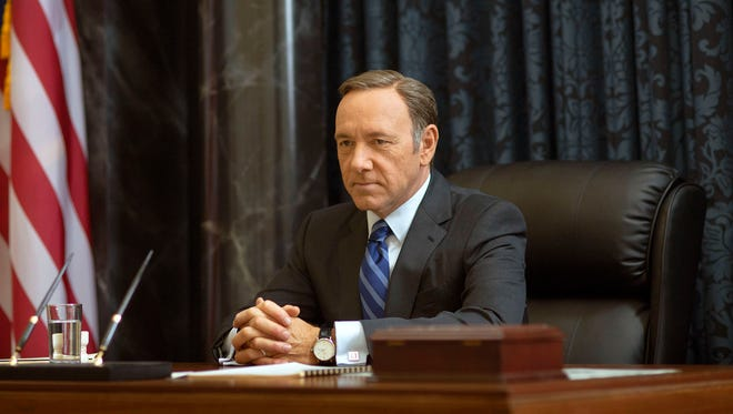 Kevin Spacey as Francis Underwood in a scene from 'House of Cards.'