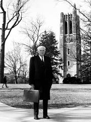 John Hannah, longtime president of Michigan State University,