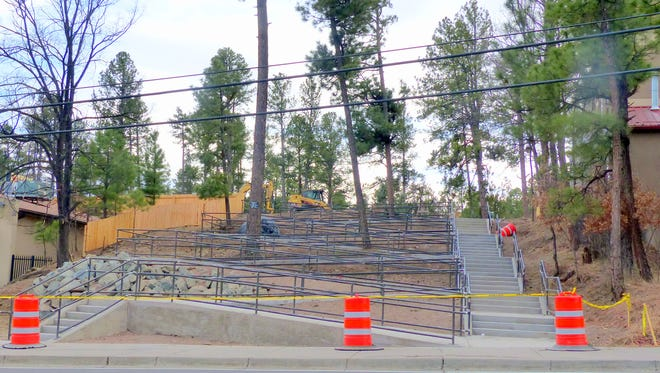 Ramp will lead visitors from municipal parking safely.