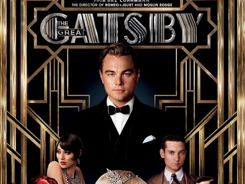 The movie tie-in cover of 'The Great Gatsby' by F. Scott Fitzgerald. The film starred Leonardo DiCaprio, Carey Mulligan and Tobey Maguire.