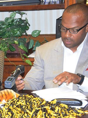 Grambling football coach Broderick Fobbs signs a two-year extension Thursday.