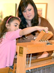Learn about weaving at Bush Barn Art Center's free Family Art Day noon to 4 p.m. Saturday, Aug. 12, with hands-on crafts and activities.
