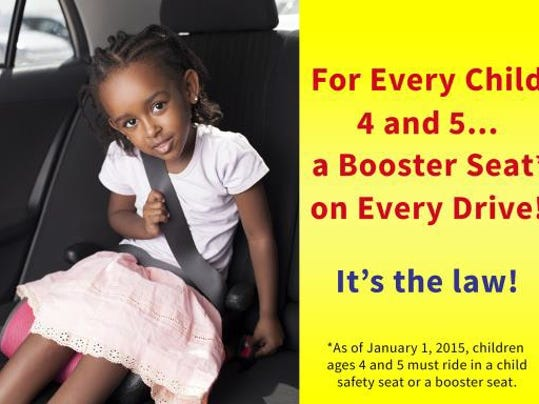 Child restraint laws change in January 2015