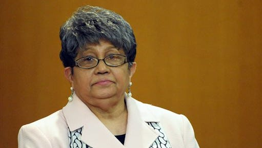 Former Atlanta Public Schools Superintendent Beverly Hall stands as her attorney presents a motion at the Fulton County Superior Court hearing for several dozen Atlanta Public Schools educators facing charges alleging a conspiracy of cheating on the CRCT standardized tests in Atlanta. Hall, the former superintendent of Atlanta Public Schools charged in what prosecutors had called a broad conspiracy to cheat on state exams, has died, her attorney said Monday.