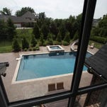 A view of the swimming pool from an upstairs window. June 25, 2015