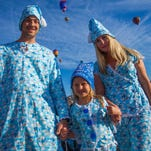 Pajama party contest winners, Beau, Tonya and Olga during the 2012 Reno Balloon Races at Rancho San Rafael.