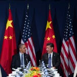 President Obama and Chinese President Xi Jinping in Paris on Nov. 30, 2015.