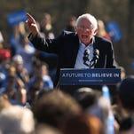 Bernie Sanders campaigns in New York on April 17, 2016.