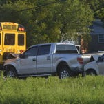 A pick up slammed into the back of a school bus early Wednesday morning. The bus was transporting students to Pensacola Christian Academy.