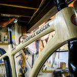 The Louisville Slugger Bicycle was designed and built by Chris Conner owner of Conner Wood Bicycles