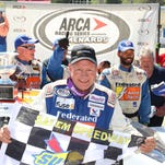 Ken Schrader won Sunday's Federated Auto Parts 200 at Salem Speedway, leading 138 of 200 laps for his first win at the historic track since 1999.