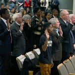 The Ferguson Commission, charged with studying the underlying social and economic conditions, is sworn in Tuesday.