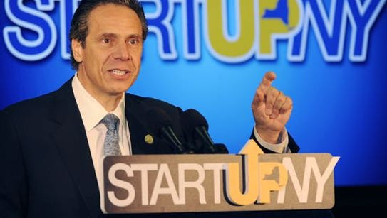 Gov. Andrew Cuomo touts the Start-Up NY program during