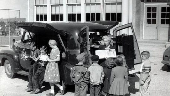 Years, ago the bookmobile provided a different type