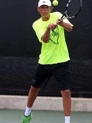 Wall High School's Colton Chitsey will be gunning for another state tennis title this week after capturing the 3A mixed doubles crown with sister Maddi Chitsey two years ago. He is playing boys doubles this time around with Shawn LaBedelle.