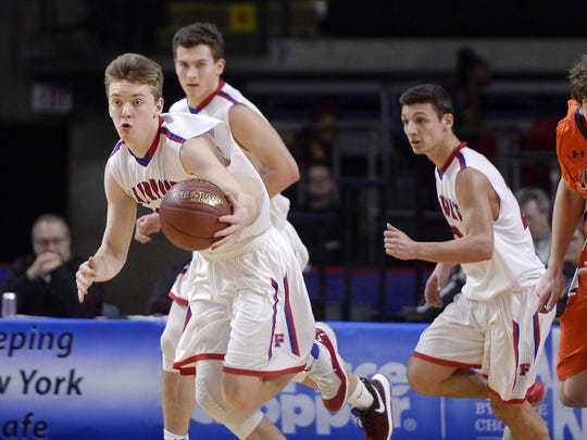 T.J. Hendricks was a key player off the bench for the Red Raiders' Class AA state runner-up basketball team last winter.