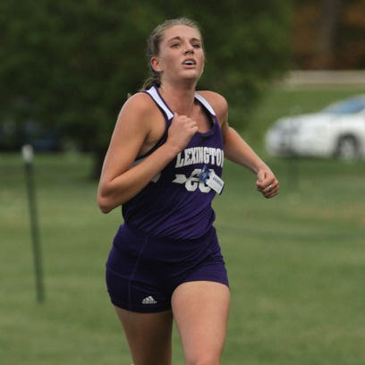 Lexington's Olivia Wolfe finished first in the division