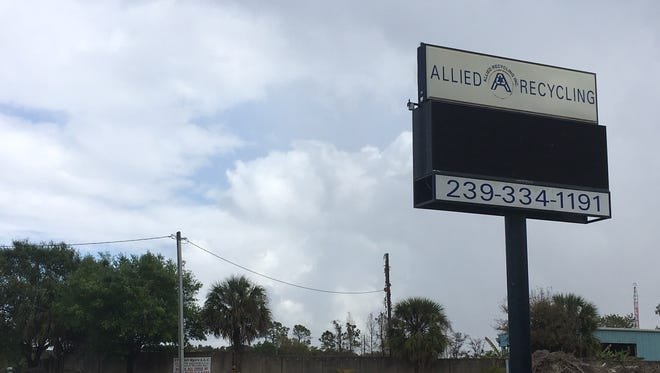 Allied Recycling operates at the same site as Allied Portables, a Fort Myers business facing bankruptcy reorganization.