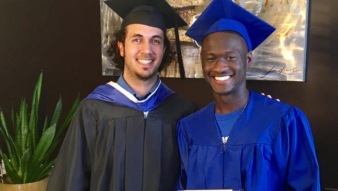 Isaiah Lewis who suffered an epileptic seizure during his graduation ceremony was presented with his diploma during a small ceremony at his home.