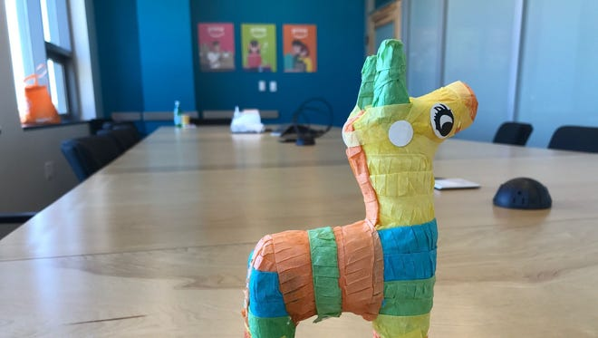 A piñata in the Amazon conference room where Prime Day coordinators gathered in 2015 to oversee the company's first Prime Day sale. The original event was code-named piñata.