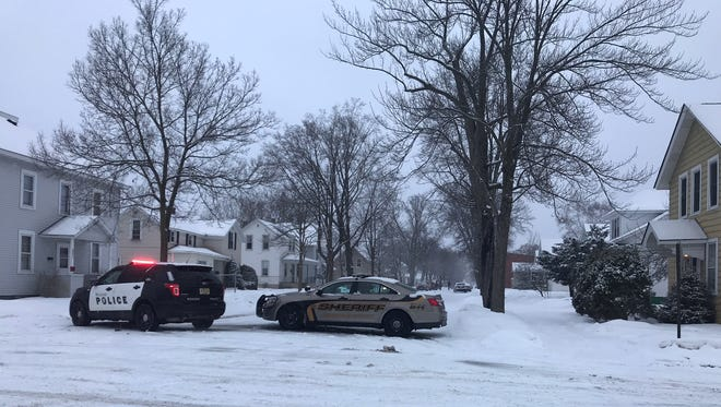Wausau police respond to an incident at Second Avenue and Spruce Street early Friday, Feb. 23, 2018.