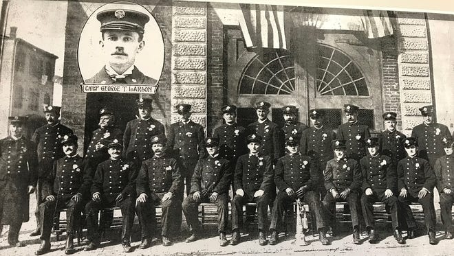 Chief George Larson was one of the nine Perth Amboy firefighters who died in 1921 following a collision between a train and fire truck. Plans are underway to erect a memorial at the Perth Amboy Train Station to honor all the firefighters who was killed or injured in the crash.