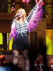 Miranda Lambert performs at the Wells Fargo Arena Thursday,