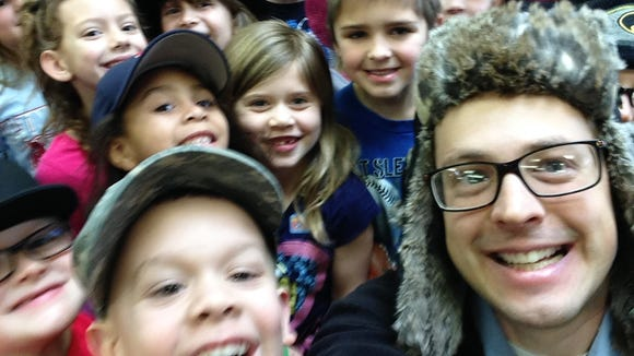 My selfie with Kelsey Nicholson's first-grade class.