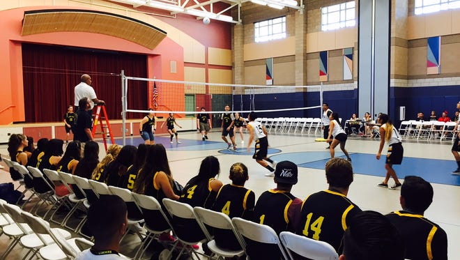 A volleyball match at Summit High School, one of Desert Sands Unified's nontraditional high schools.