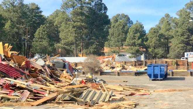 Two buildings on adjoining lots at the intersection of White Mountain and Mechem Drives in Ruidoso were demolished.