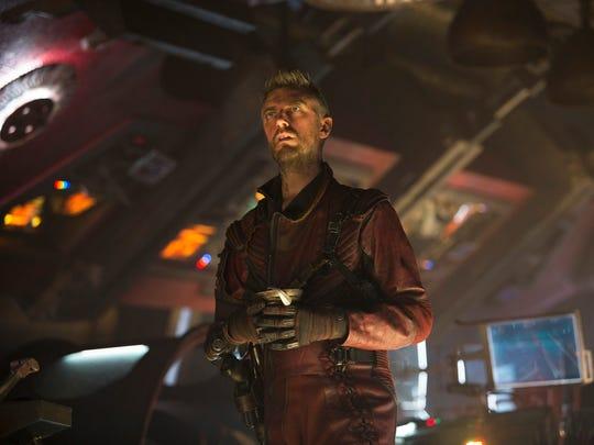 Sean Gunn plays Kraglin the Ravager in 'Guardians of