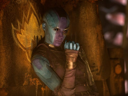 "Nebula (Karen Gillan) returns with a bone to pick with her sister in ""Guardians of the Galaxy Vol. 2."""