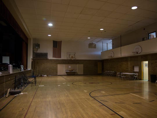 The gym of the former St. Ansgar elementary school is now a rehearsal space for the Cedar Summerstock Theater on Friday morning, July 28, 2017, in St. Ansgar.