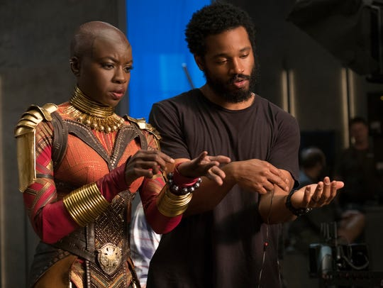 Danai Gurira (left), who plays the Wakandan warrior