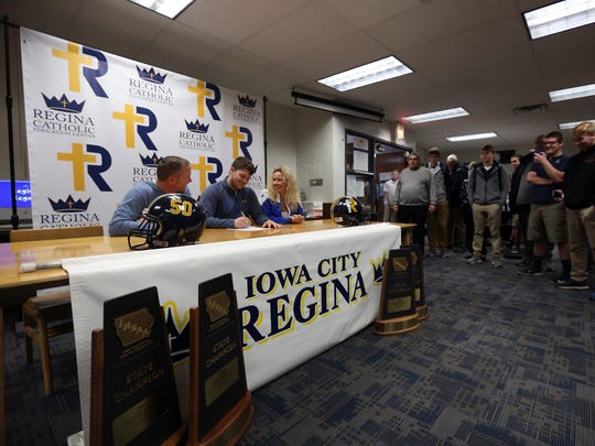 Regina's Cole White signs a letter of intent to play