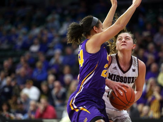 Missouri State's Alexa Willard fights her way around