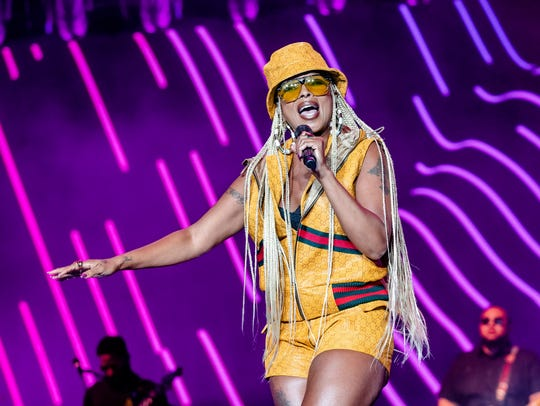 Mary J. Blige performs during the Essence Festival.