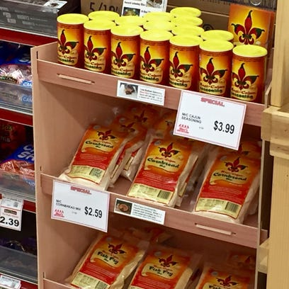 Mexi-Cajun products, started by Alexandria's Shelley