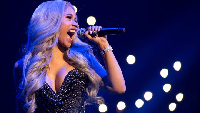 Recording artist Cardi B performs at Power 105.1's Powerhouse on Oct. 26, 2017, in Brooklyn.