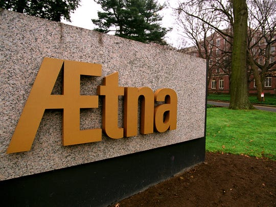 Aetna world headquarters are seen in Hartford, Connecticut on December 13, 2001. Photographer: Michael J. Doolittle/ Bloomberg News.