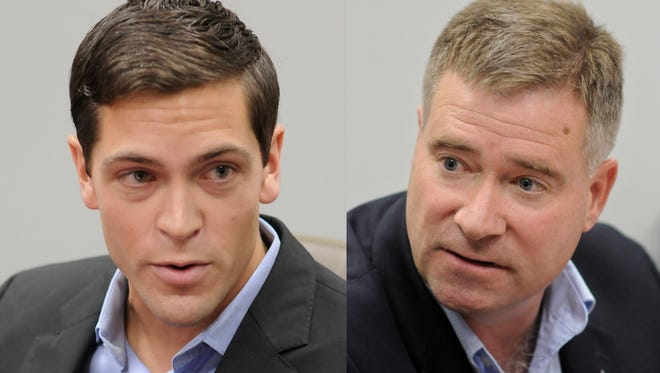 Sean Eldridge of Shokan, Ulster County, left, is challenging Rep. Chris Gibson, R-Kinderhook.